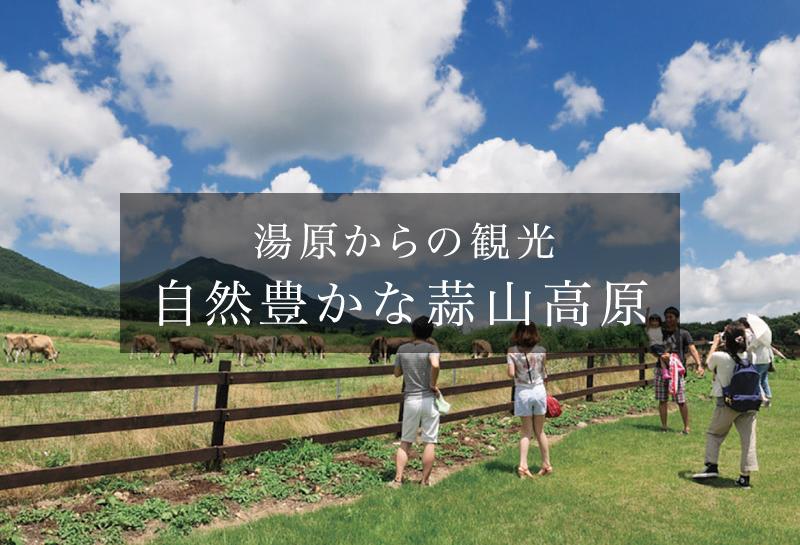 湯原からの観光 自然豊かな蒜山高原